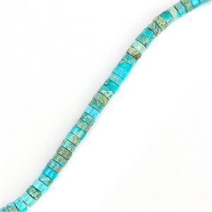 50cts Light Blue Terra Jasper Heshi Beads Approx 4x2mm, 38cm