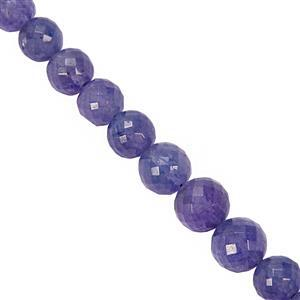 34cts Tanzanite Faceted Round Approx 4mm to 7mm 10cm Strand