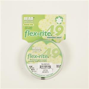 Flexrite 49 Strand Nylon Coated Stainless Steel Micro Wire Approx 0.45mm/0.018