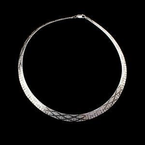 Sterling Silver Rhodium Plated Cleopatra Inspired Necklace 17