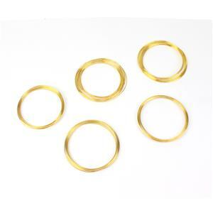 5pk Jewellery Maker Stainless Steel Memory Wire - Gold Colour, 0.6 mm