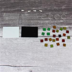 Fun Fusibles:Dichoric fusible chips,fusible glass sheets,clear rounds,silver plated bails