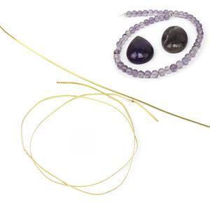 Bare Copper & Amethyst Filigree Wire Kit