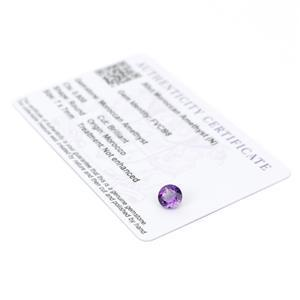 0.8cts Moroccan Amethyst 7x7mm Round  (N)