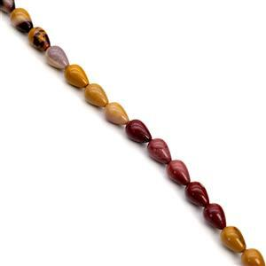 140cts Mookite Drops Approx 8x12mm, 38cm Strand