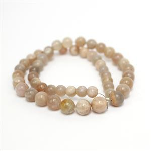 100cts Peach Moonstone Plain Rounds Approx 6-8mm, 33cm