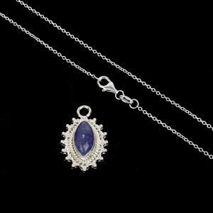 Tasty Tanzanite! 925 Sterling Silver Gemset Pendant Inc. 2.80cts Tanzanite with Chain