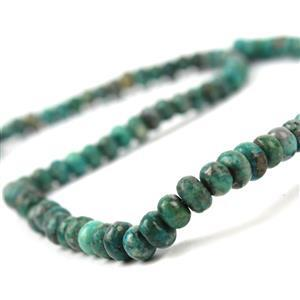 100cts Dyed Green Quartzite & Pyrite Plain Rondelles Approx 6x4mm,  38cm strand