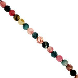 75cts Multi-Colour Tourmaline Smooth Rounds Approx 5 to 6.50mm, 29cm Strand