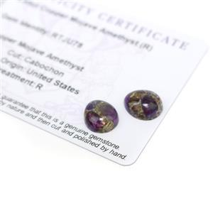 5.65cts Copper Mojave Amethyst 12x10mm Pear Pack of 2 (R)