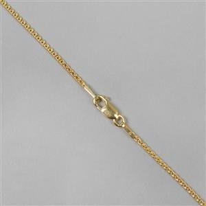 925 Yellow Gold Plated Sterling Silver Spiga Chain with 1.2mm Links, 46cm/18
