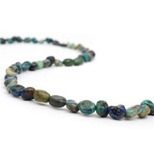 60cts Chrysocolla Small Tumbled Stones Approx 4x5-6x9mm, 38cm strand