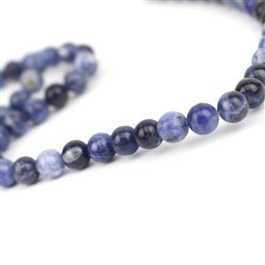 90cts Sodalite Plain Rounds Approx 6mm, 38cm Strand
