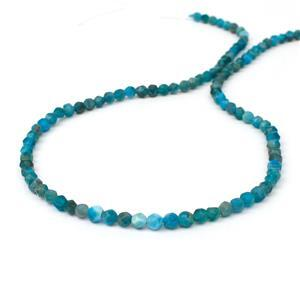 35cts Neon Apatite Faceted Fancy Approx 3x4mm, 38cm
