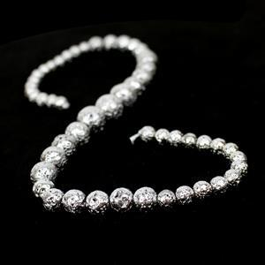160cts Silver Lava Rock Graduated Plain Rounds Approx 6 to12mm, 38cm Strand