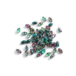 IrisDuo Beads Crystal Magic Blue, Approx 4x7mm (50pcs)