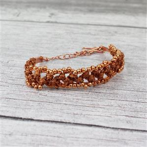 Sun-Drenched Earth:Sunstone Graduated, Faceted Cubes, Miyuki Seedbeads & 0.4mm & 0.9mm Cord