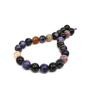 90cts Charoite Plain Rounds Approx 8mm, 19cm Strand