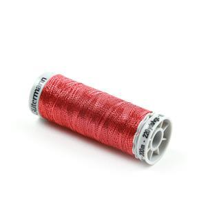 Gutermann Red Silky Metallic Thread, 200m (60% Polyamide, 40% Polyester)