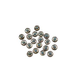 Precisoa Ornela Crystal Pale Blue Table Cut Hawaiian Flower Beads, 14mm (20pk)