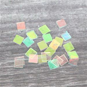 Fuseworks Clear Dichroic Fusible Glass Chips 24 x 0.5
