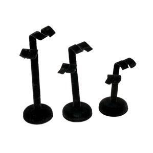 Black Velvet Flannette Earring Stand Set, 3pk (8cm, 12cm, 15cm)