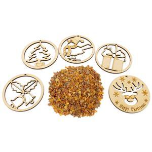 Amber Christmas Decorations! Including 5x Wooden Decoration Blanks & Amber Chips