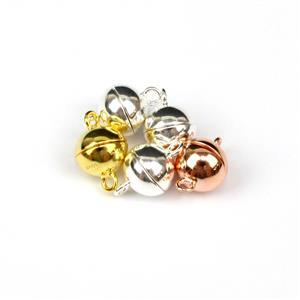925 Sterling Silver Magnetic Clasps 5pc Approx 8mm, 3x Silver, 1x Gold & 1x Rose Gold