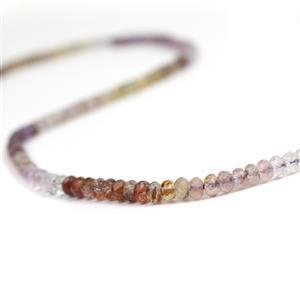 30cts Multi-Colour Auralite 23 Quartz Faceted Rondelles Approx 3x2mm, 38cm strand
