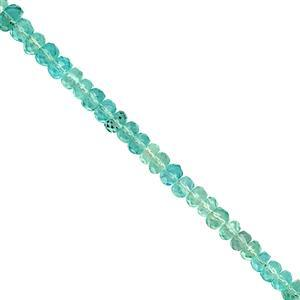 26cts Apatite Faceted Rondelle Approx 3x4mm, 20cm Strand