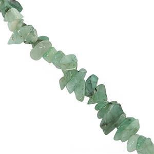 95cts Emerald Chips Approx 3x2 to 5x3.5mm, 81cm Strand
