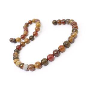 160cts Chinese Multi-Colour Agate Plain Rounds Approx 8mm, 38cm Strand