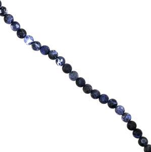 210cts Sodalite Frosted Rounds Approx 10mm, 38cm strand