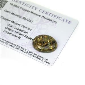 19.2cts Copper Mojave Peridot 22x17mm Oval  (R)