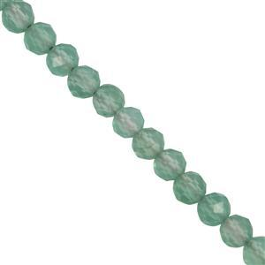 8ct Green Onyx Faceted Rounds Approx 2.3x2.1mm 30cm Strand