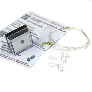 Kyanite & Peridot Wrap; Wrap Setting Connector, Kyanite, Peridot & Wire