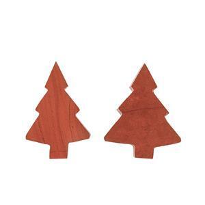 150cts Red Jasper Plain Christmas Tree Shape Gemstones.(Pack of 2)