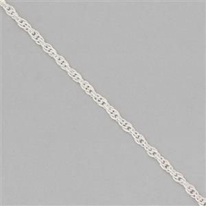 925 Sterling Silver Finished Rope Chain Approx 2x1.5mm, Length Approx 16