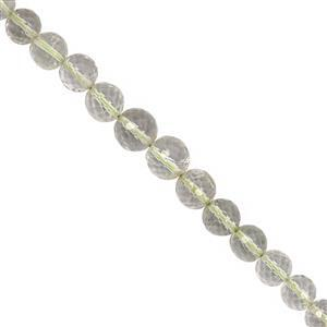 80cts Green Amethyst Graduated Faceted Round Approx 5 to 7mm, 32cm Strand