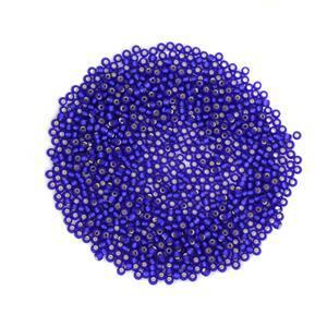 Miyuki Matte Silver Lined Cobalt Seed Beads 8/0 (22GM/TB)