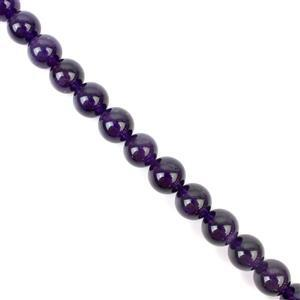 350cts Zambian Amethyst Plain Rounds Approx 12mm 38cm strand