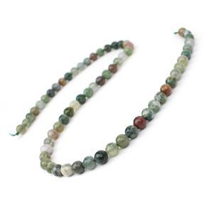 90cts Fancy Jasper (Indian Jasper) Faceted Rounds Appox 6mm, 38cm Strand