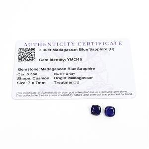 3.3cts Madagascan Blue Sapphire 7x7mm Fancy Pack of 2 (D)
