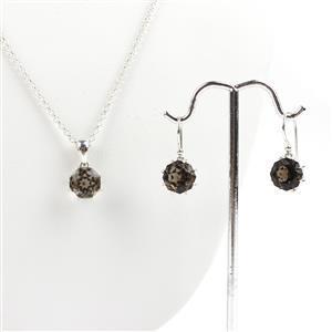Mini Mount Make; Smoky Quartz Octagonal, Earrings Mount & Pendant Mount With Chain