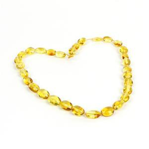 Baltic Lemon Amber Beads, Approx. 10x7mm-16x8mm (38cm Strand)