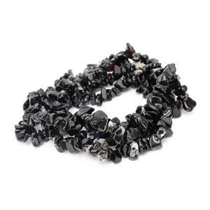 270cts Black Agate Small Nuggets Approx 4x5 - 6x9mm, 80cm