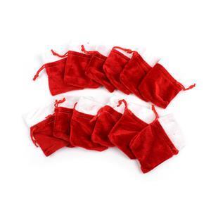 Red Santa Sack Gift Bag Approx 8x6mm, 12pk