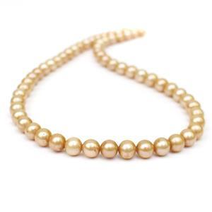 Dyed Gold Freshwater Cultured Potato Pearls Approx 7-8mm, 38cm Strand
