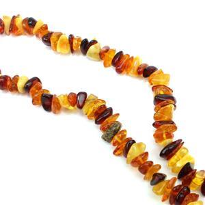 Baltic Multi-Colour Amber Bead Chips, approx 7x5 - 10x6mm 38cm Strand
