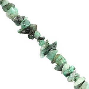 100cts Emerald Bead Nugget Approx 3x1.50 to 8x3mm, 32i80cm Strand